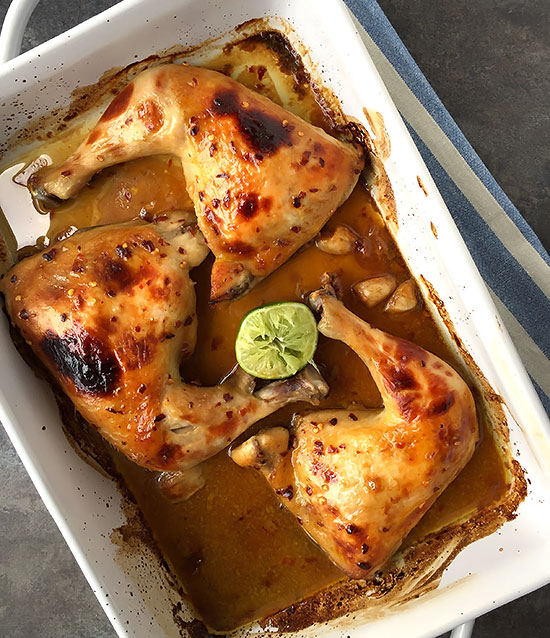 Honey Dijon Chicken with Lime