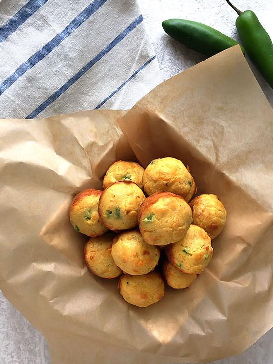 Jalapeno Cheddar Einkorn Cornbread Muffins