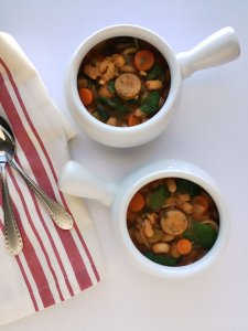 Sausage Cannellini Bean and Spinach Soup