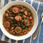 Slow Cooker Pinto Beans with Smoked Sausage