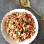 Sprouted Quinoa Lentil Salad