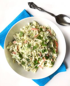 Easy Coleslaw with Jalapenos and Cilantro