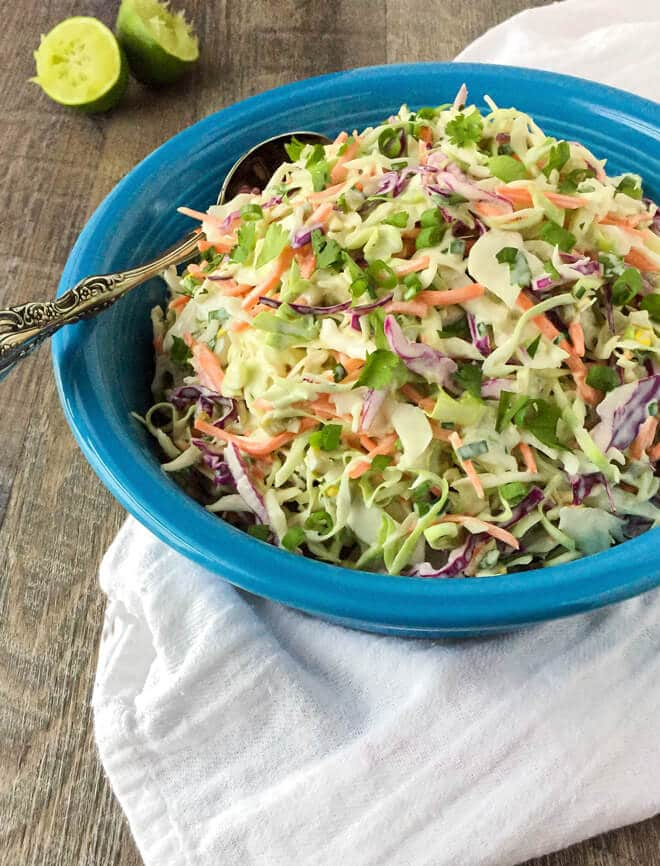 Easy Coleslaw with Jalapeños and Cilantro