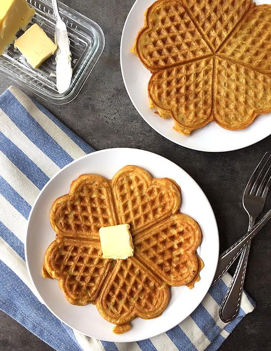 Einkorn Coconut Waffles