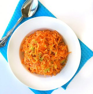 Grated Carrot Salad with Lime Vinaigrette