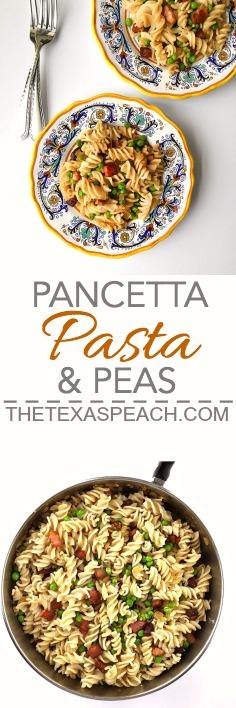 Pancetta, Pasta and Peas