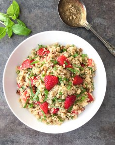 Strawberry Basil Quinoa Salad