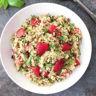 Strawberry Basil Quinoa Salad