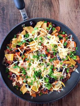 Easy Beef Enchilada Skillet