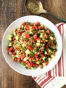 Italian Sprouted Lentil Salad