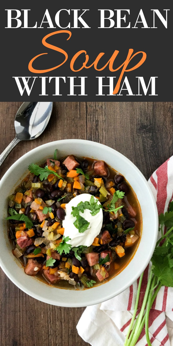 Black Bean Soup with Ham
