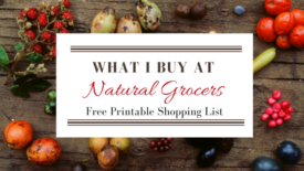 Shopping List Natural Grocers