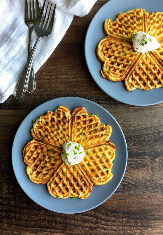 Leftover Mashed Potato Waffles