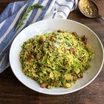 Sautéed Brussels Sprouts with Pancetta
