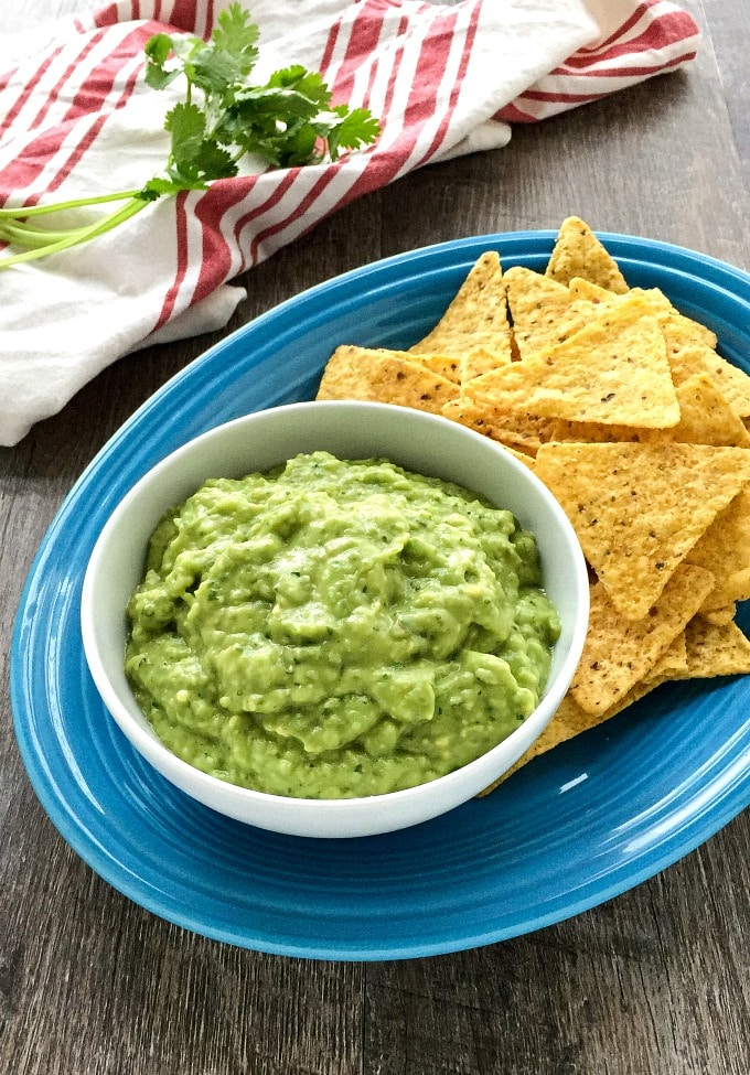 This Green Sauce is a healthy and easy dip made with fresh tomatillos and avocado.