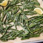 Oven Roasted Green Beans with Parmesan