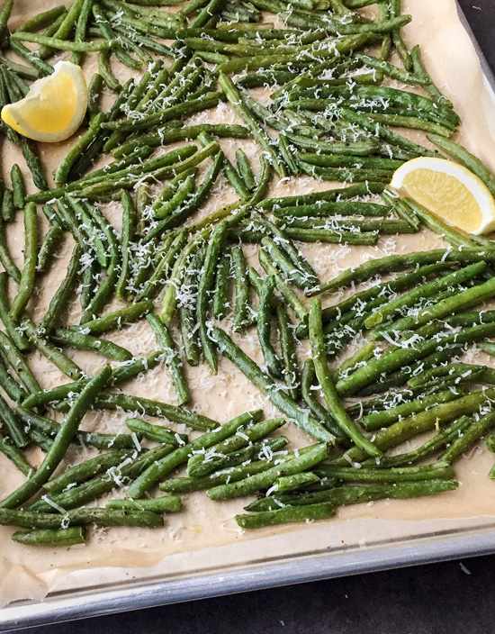 These frozen Oven Roasted Green Beans make a healthy and easy side dish for dinner!