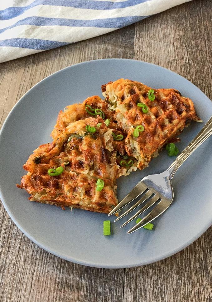 Cheesy Hash Brown Waffles
