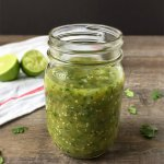 Learn how to make homemade salsa. This Roasted Tomatillo Salsa recipe is a delicious green salsa!