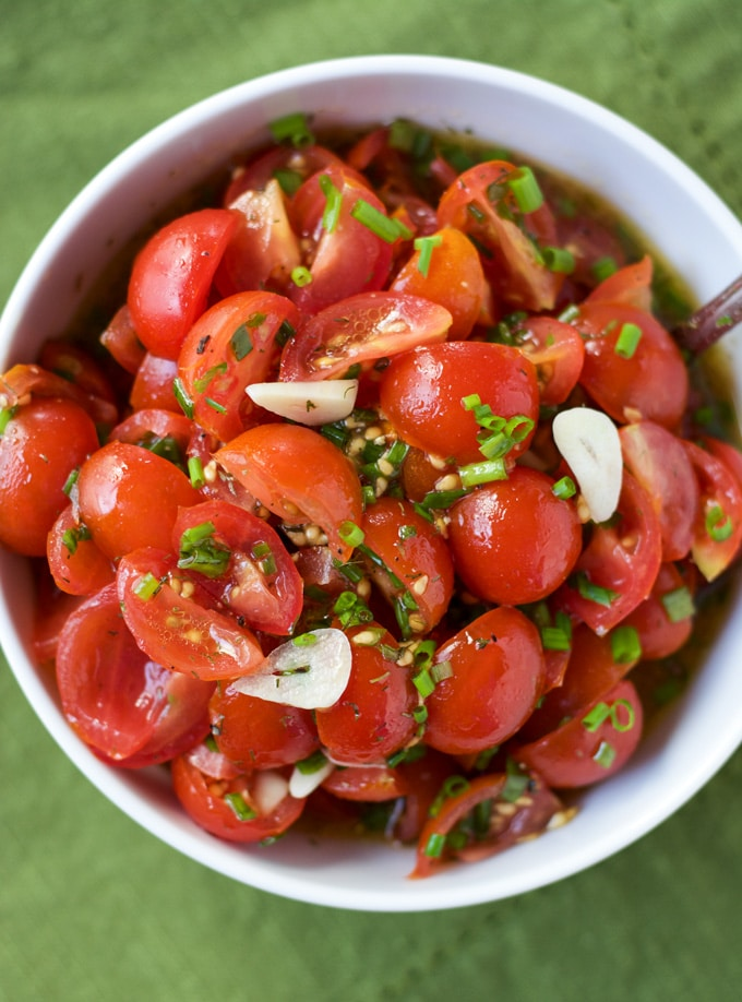 Tomato Vinaigrette with Chives