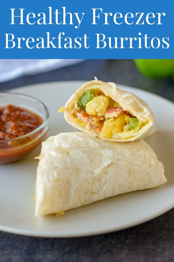 These Freezer Breakfast Burritos are super easy to make and tasty. The perfect healthy make-ahead breakfast! #breakfast #breakfastrecipes #breakfastideas #breakfastburritos #breakfastideashealthy