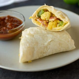 Healthy Freezer Breakfast Burritos