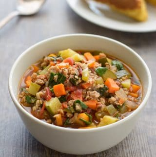 Italian Sausage Vegetable Soup