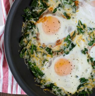 Oven Baked Eggs with Spinach