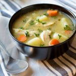 A healthy soup recipe made with roasted chicken and veggies! Makes a hearty and delicious dinner idea!